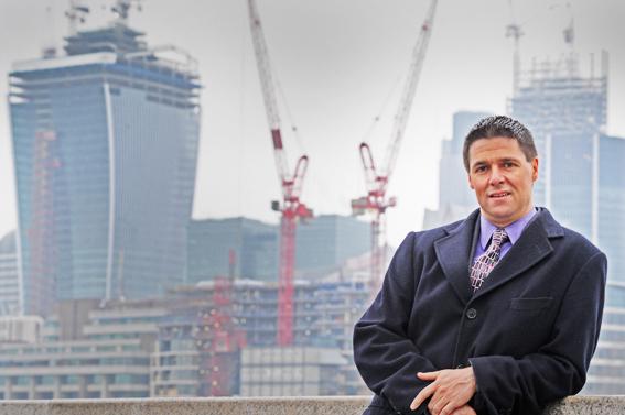 London location headshots with City backdrop